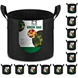 12-Pack 10 Gallon Grow Bags Heavy Duty Thickened Nonwoven Fabric Pots with Durable Handles
