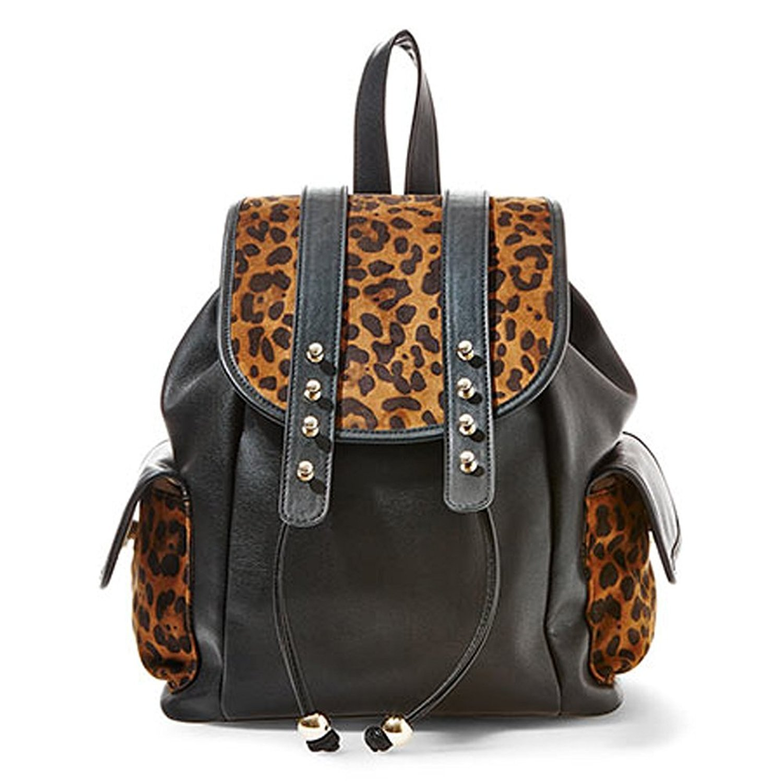 Big Buddha Doris Backpack Handbag (Leopard)