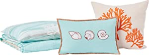 Greenland Home Maui Quilt Set, 4-Piece Twin/Twin XL, Multi