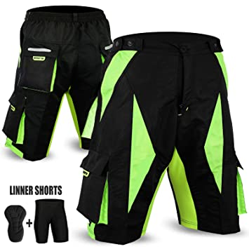 f51a80764 New MTB Cycling Short Off Road Cycle Bicyle Coolmax Padded Liner Shorts  FITNOW (BLACK