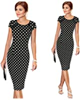 DaySeventh Summer Women Bandage Bodycon Short Sleeve Office Pencil Mini Business Dress