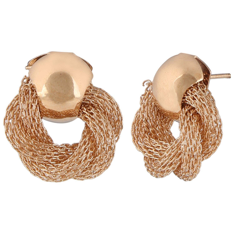 Efulgenz Fashion Jewellery Gold Silver Plated Stylish Fancy Party Wear Stud Earrings for Girls & Women