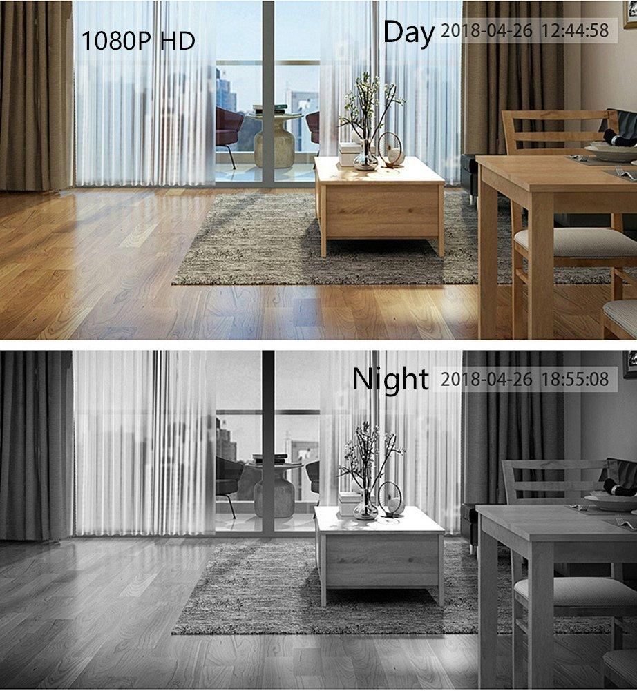 Smart Home Seguridad Cámara De Vigilancia 720P HD Wireless Wifi Cámara IP Con PIR Cuerpo Humano Sensor De Inducción Gran Capacidad Recargable Video Timbre ...