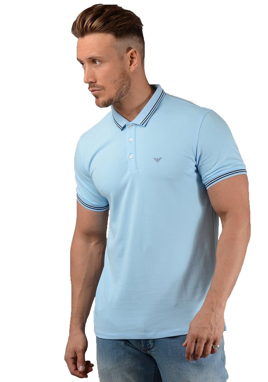 Emporio Armani Camisa Polo de Hombre en Cielo Azul - Azul, XX ...
