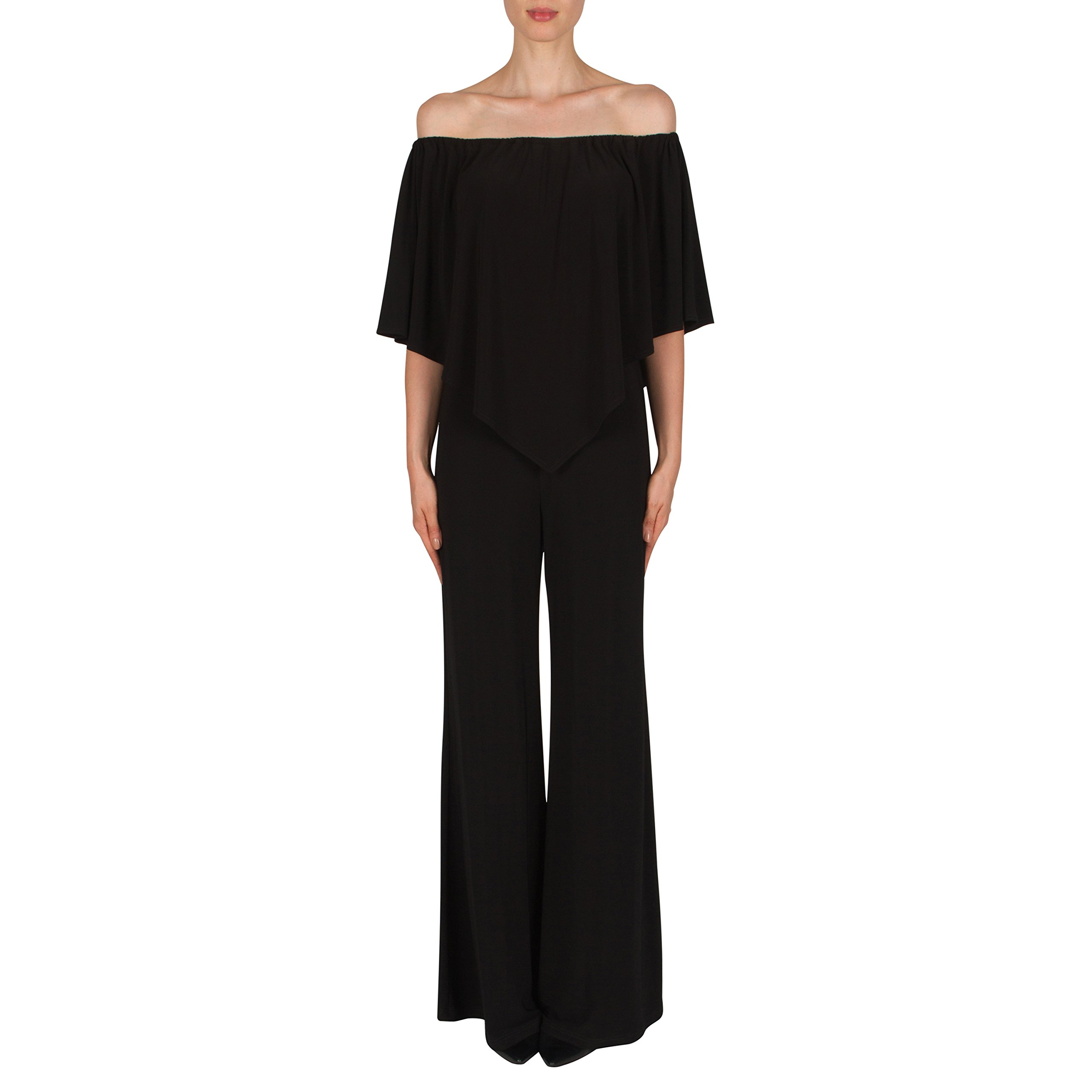 Joseph Ribkoff Black Poncho Top Jumpsuit Style 181041 - Size 8