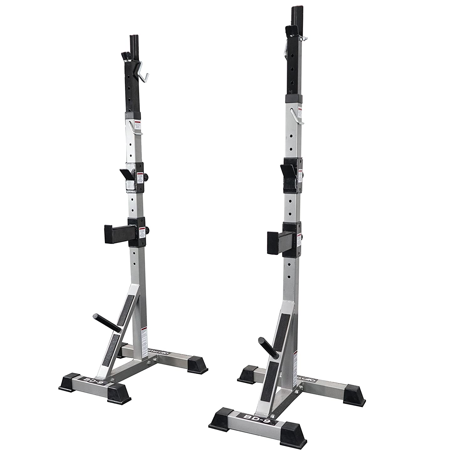 Valor Fitness BD Independent Bench Press and Squat Rack Stands with Adjustable Uprights and Safety Catches