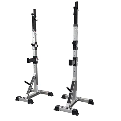 amazon com valor fitness bd 9 independent power squat stands withamazon com valor fitness bd 9 independent power squat stands with adjustable uprights, j hooks, bar catches, and safety catches home gyms sports \u0026