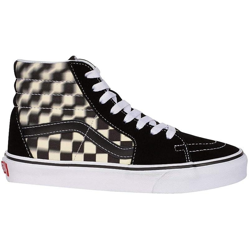 Vans Unisex-Erwachsene SK8-Hi Sneakers Schwarz-Weiß Kariert Größe 36,5