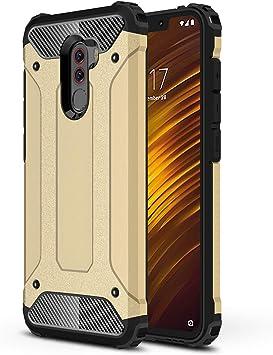 AOBOK Funda Xiaomi Pocophone F1, Oro Moda Armadura Híbrida Carcasa ...