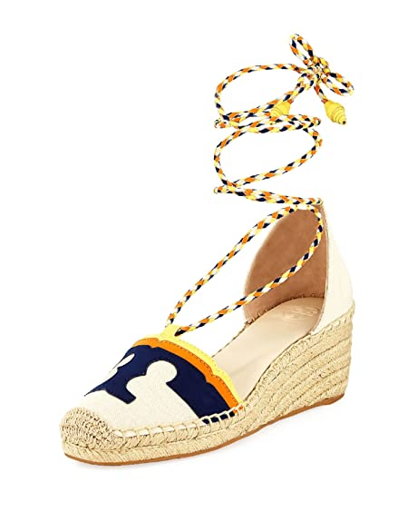 7190f920f0b Image Unavailable. Image not available for. Color  Tory Burch Laguna  Espadrille Wedge Lace Up ...