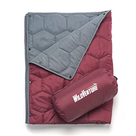 WildVenture Hexi Do-Anything Camping Indoor Outdoor Insulated Sport Picnic Ground Throw Blanket – Carrying Bag Included