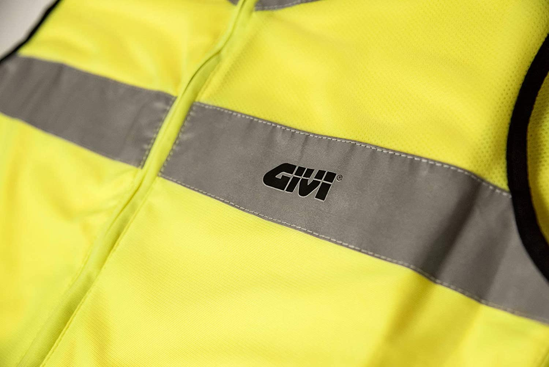 GIVI chaleco fl/úor Trekker Vest Alta visibilidad vest02/para moto y Scooter 2XL//3XL amarillo FLUO