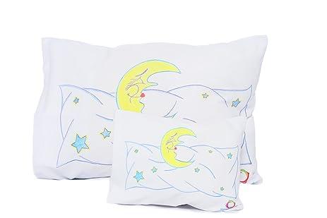 Wow Four Design Toddler Pillowcase Set Size 13x18 Standard for Boys - Girls -Cotton Sun