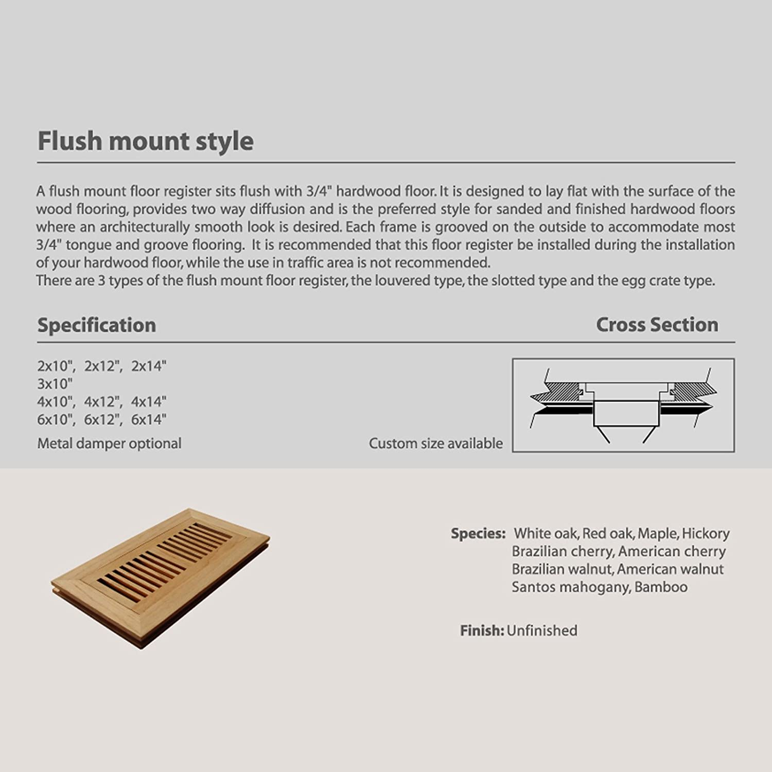 Flush Mount Floor Register Bamboo Carpet Review