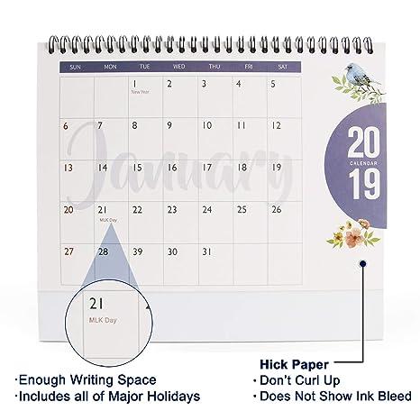 Amazon.com: Calendario mensual de escritorio 2018 – ISEYMI ...