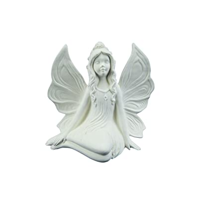 Fairy Side Sitting (Gare Side Sitting Fairy) - Unpainted Ceramic Bisque - Handcrafted in The USA: Arts, Crafts & Sewing