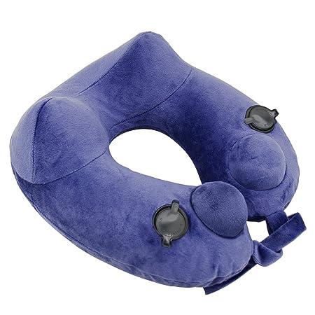 hinchable cuello cojín almohada, Neck Pillow Cómodo y ligero ...