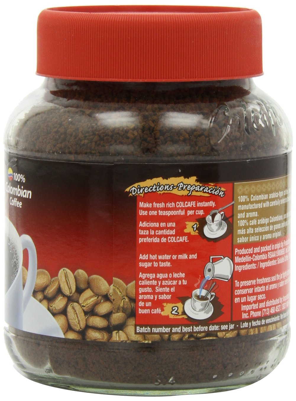 Amazon.com : Colcafe Instant Coffee, 7.05-Ounce (Pack of 4) : Grocery & Gourmet Food