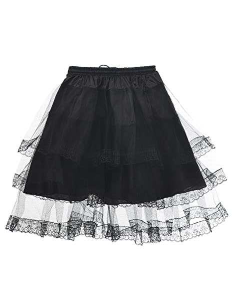 Remedios Prom Dress Children Petticoat Underskirt Girl Half Slip Crinoline,Black