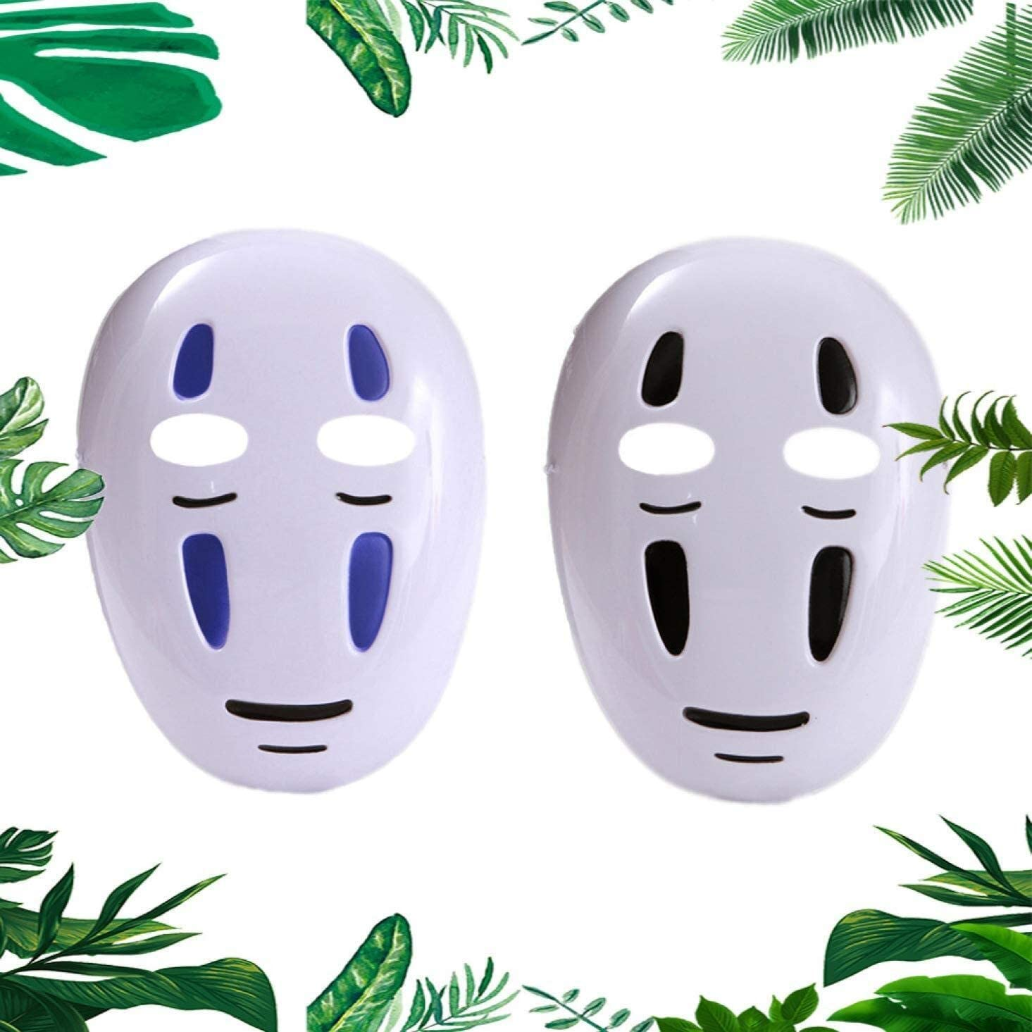 Amazon Com Spirited Away No Face Man Mask Cosplay Poro Halloween Costume Cute Rare Anime 2pcs Color All Home Kitchen