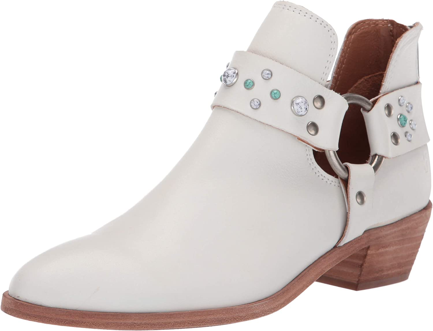 Frye Women's Ray Stone Harness Back Zip Ankle Boot