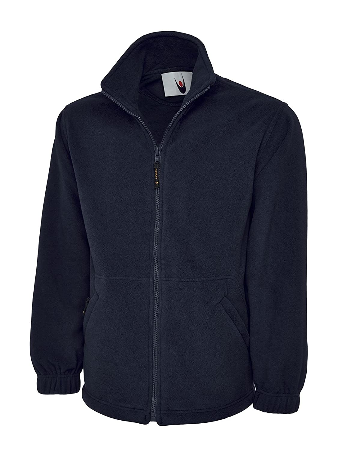 Uneek Clothing-Mens-Premium Full Zip Micro Fleece Jacket-380 gsm-Navy-4XL Starlite 601NY4XL