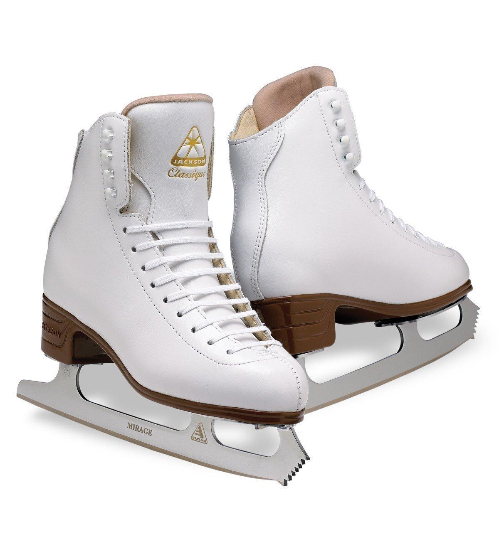 Jackson Ultima Classique JS1990 White Womens Ice Skates, Width C, Size 6.5 by Jackson Ultima