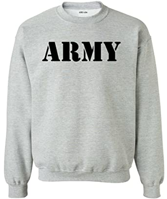 Joe's USA Men's ARMY Logo Crewneck Sweatshirts - Army Sweatshirts ...