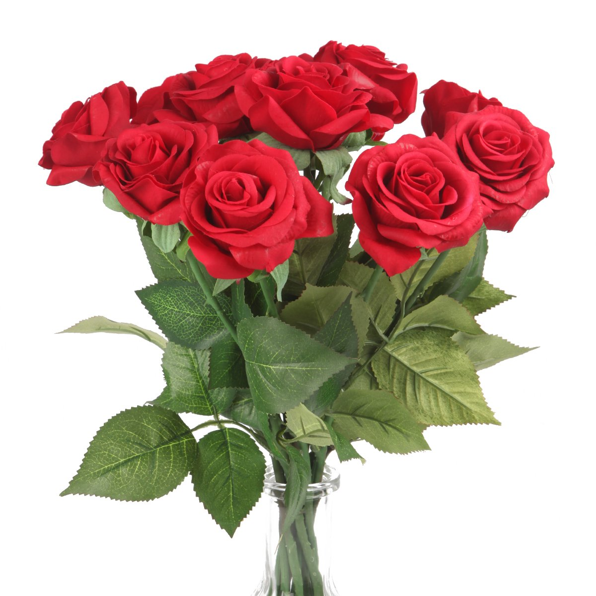 (3, Red) - Silk Rose 43cm Artificial Flowers As Natural -Louis Garden (3, Red) B01M9F7YE4 レッド|3 レッド