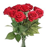 Louis Garden - rosa in seta, fiore artificiale, effetto realistico, 43 cm