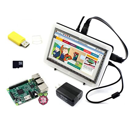 Wendi modelo B de Raspberry Pi 3 Paquete de Kit (F), 7 inch HDMI ...
