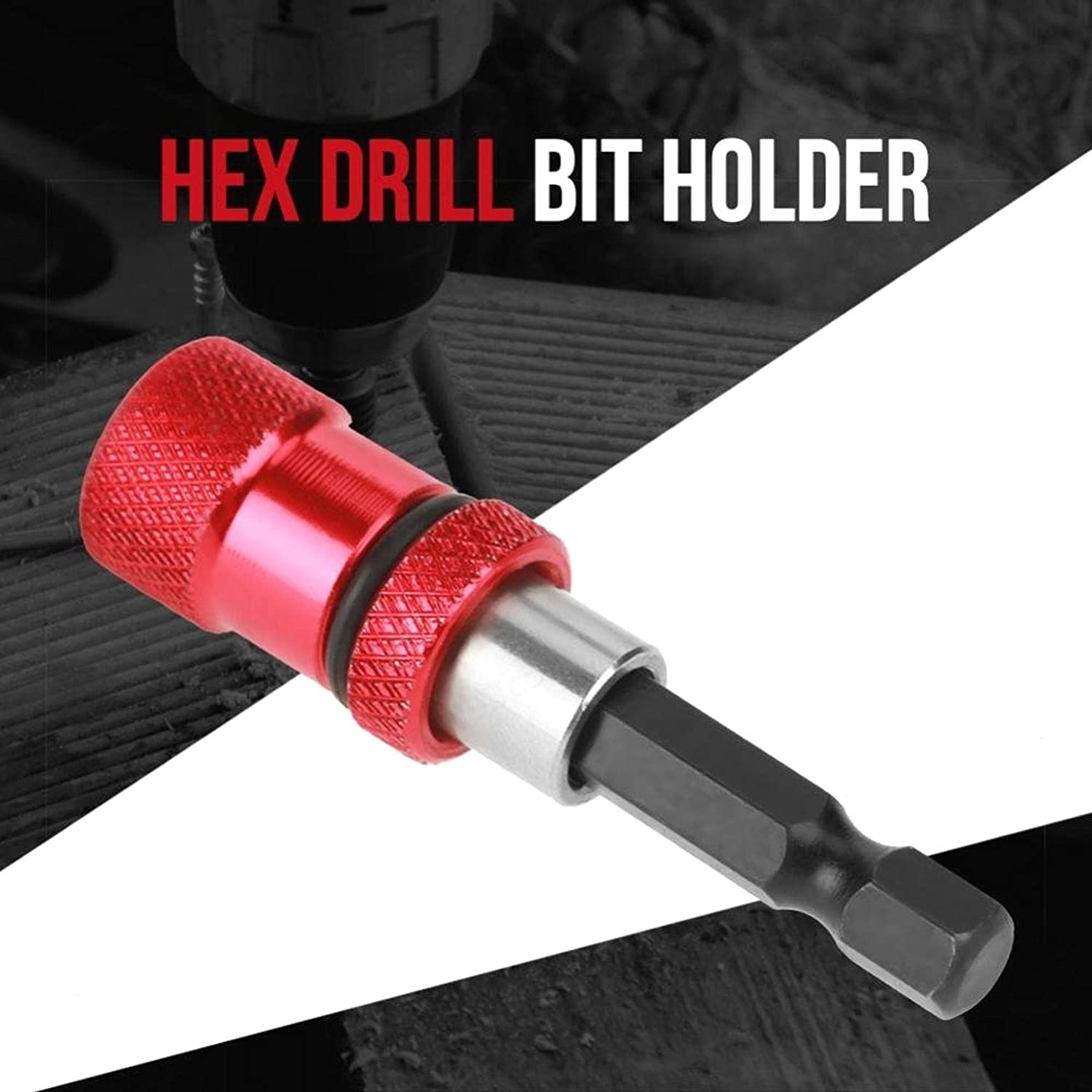 Red 60 TINGB Stainless Steel Drill Bit 1//4 Hex Shank Quick Release Magnetic Holder Screwdriver Extension