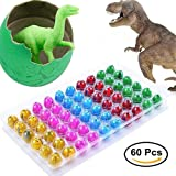 Blu7ive Hatch and Grow Easter Dinosaur Eggs Novelty Hatching Dinosaur Toys Dinosaur Party Supplies for Kids (60 Pack)
