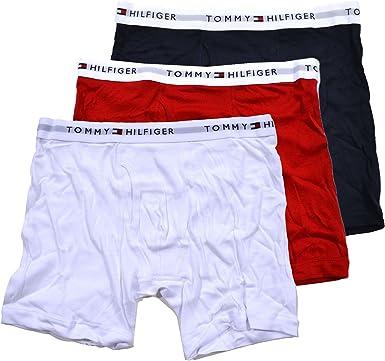 Tommy Hilfiger 3 Pack Ceinture Trunk Sous-vêtements Boxer Shorts-CornflowerBlue