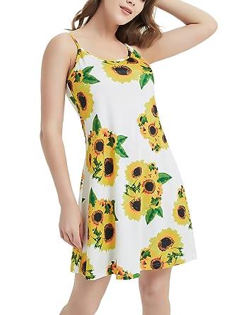 e012d5402e0 Women s Sleeveless Adjustable Spaghetti Strap Summer Sun Midi Dress ...