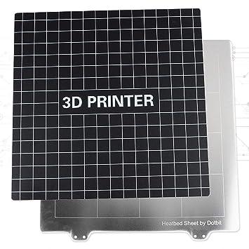 Nrpfell Accesorios de Impresora 3D 235X235Mm Placa de Acero de ...