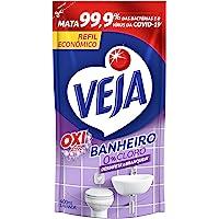 Limpador de Banheiro Antibac Lavanda 400Ml Refil Econômico, Veja, Roxo