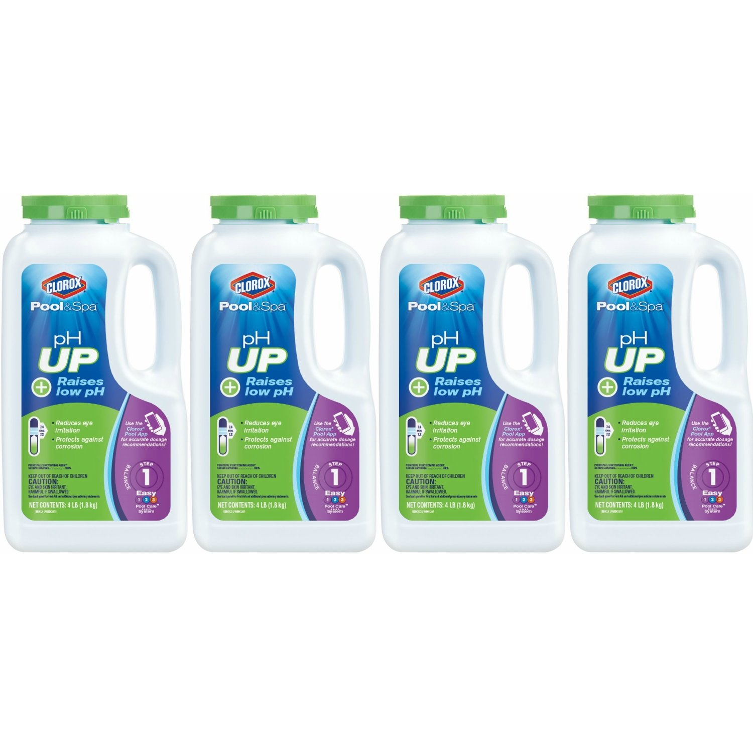 Clorox Pool&Spa pH Up, 4-Pound 19004CLX, Pack of 4