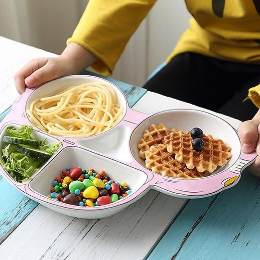 BaoKangShop Platos para microondas Placa de Desayuno Placa de ...