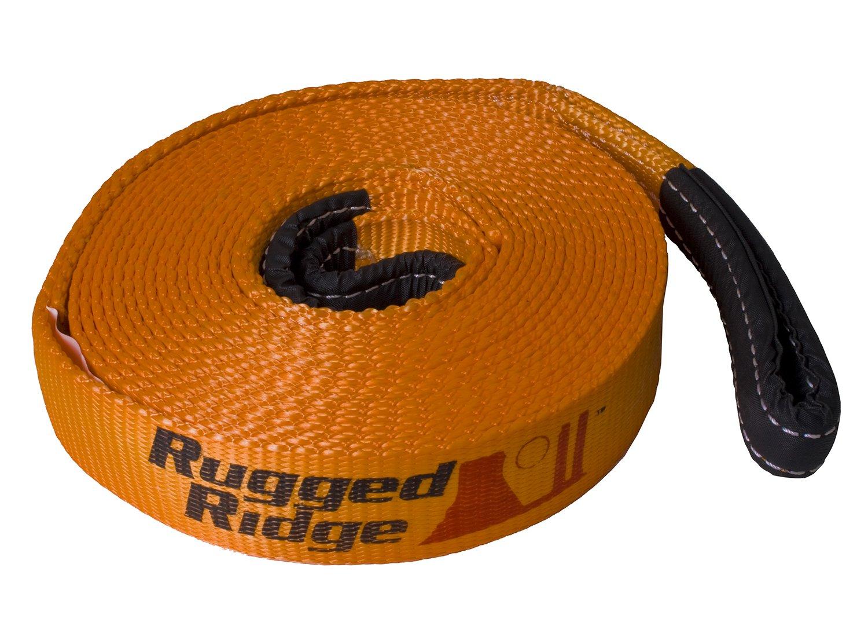 Rugged Ridge 15104.04 1' x 15' 10, 000 lbs Recovery Strap for UTV/ATV Universal Application