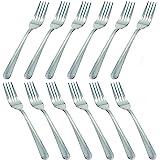 MJIYA 12 PCS Dinner Forks Silverware Set, Dominion Heavy Duty Forks, Stainless Steel Salad Forks Multipurpose Use for Home, K