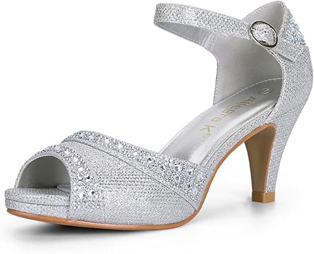 new images of autumn shoes innovative design Amazon.com | Allegra K Women's Peep Toe Glitter Ankle Strap ...