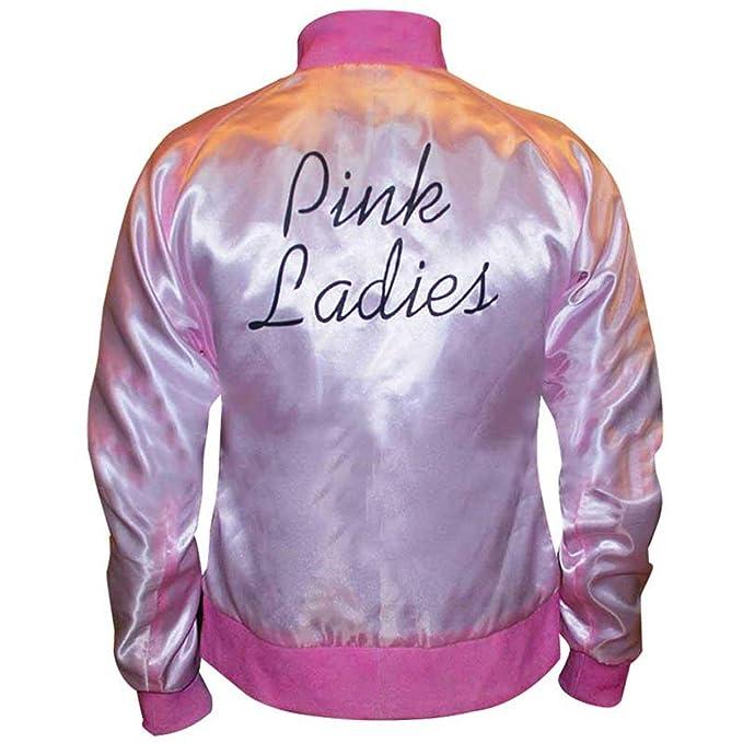 Fashion_First - Chaqueta - para Mujer Rosa Pink & Black Small-32