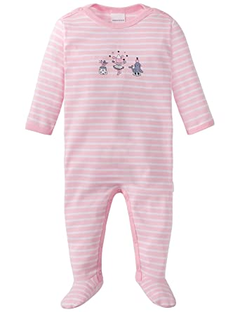 Schiesser Baby-M/ädchen Puppy Love Anzug mit Fu/ß Zweiteiliger Schlafanzug