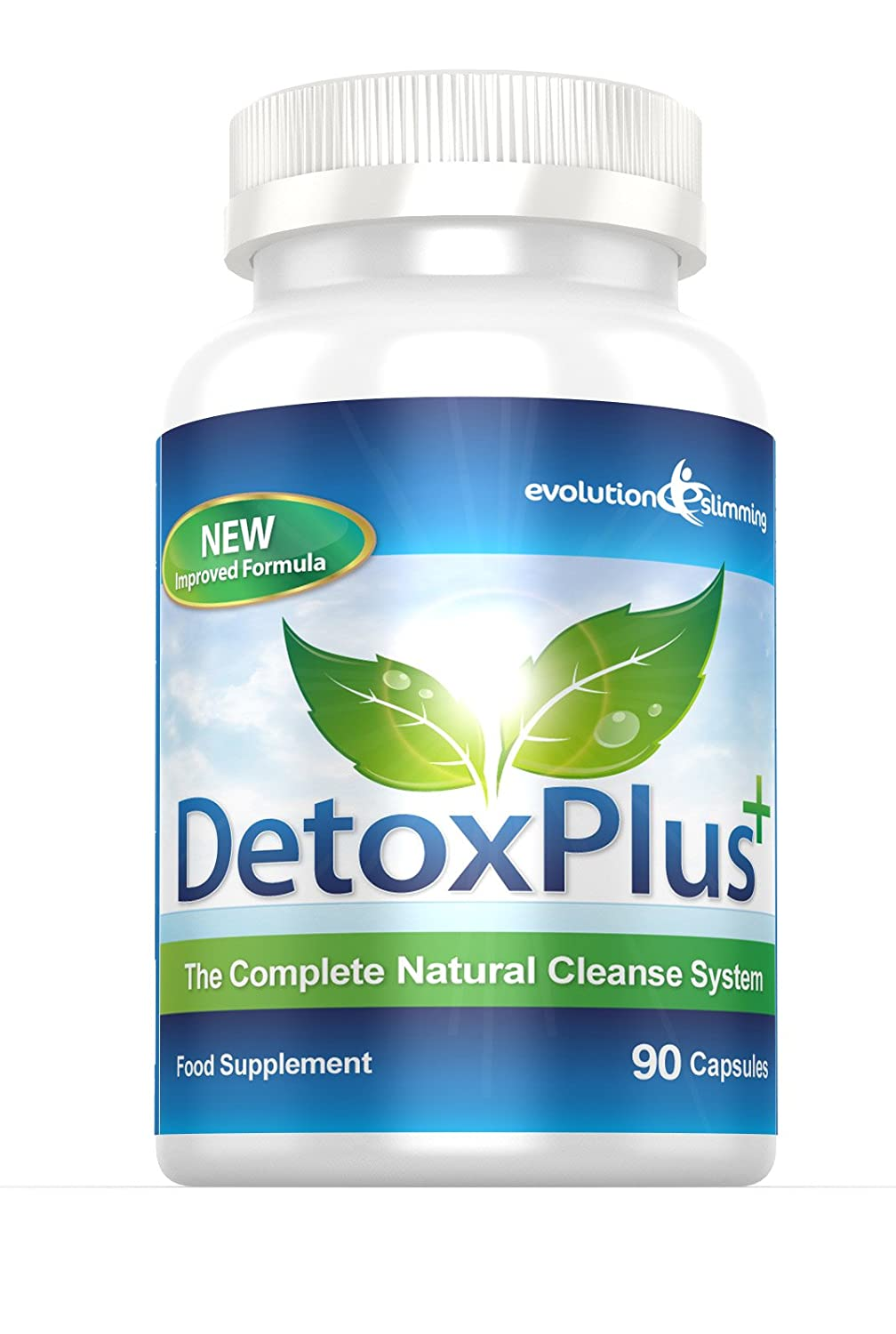 Detoxplus Plus Colon Cleanse Natural Cleansing System For Weight Loss And Bloating 90 Capsules By Evolution Slimming