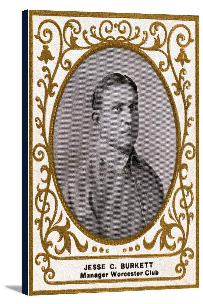 ウースターマイナーリーグ – Jesse C。Burkett – 野球カード 24 x 36 Gallery Canvas LANT-3P-SC-23670-24x36 B0184AT1UC  24 x 36 Gallery Canvas