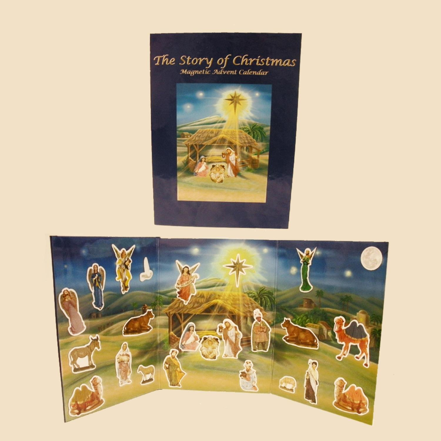 Pack of 5 Magnetic Nativity Book Advent Calendars