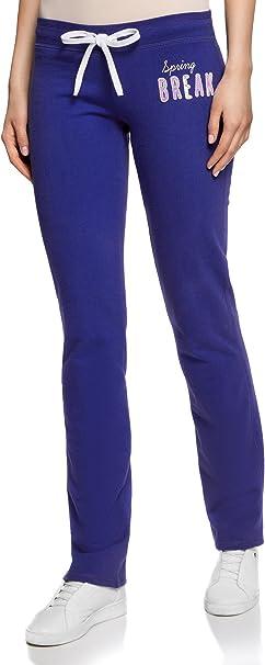 oodji Ultra Womens Velvet Active Pants with Drawstrings