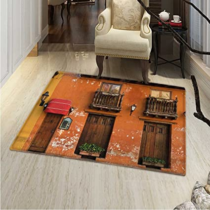 Amazon.com: America Area Silky Smooth Rugs Cartagena Streets ...