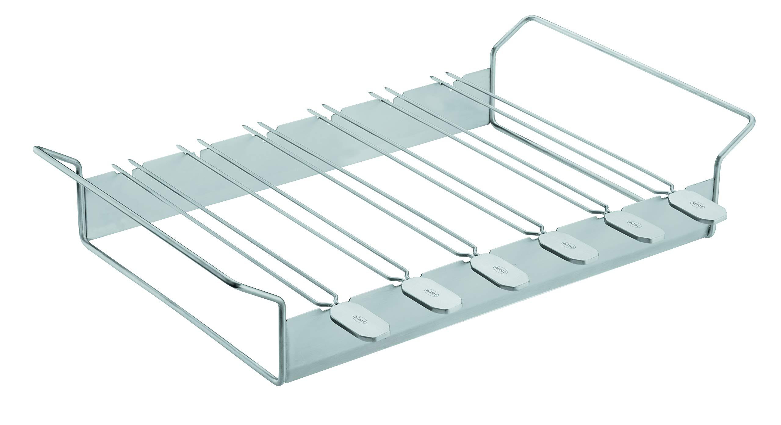 Rösle Stainless Steel 20-inch Kabob Rack With Skewers